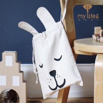 Ins explosion models cotton cloth storage bag large tote canvas storage bag sundries toys children's room