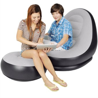 Harga INTEX INFLATABLE ULTRA LOUNGE CHAIR WITH FREE ELECTRIC PUMP