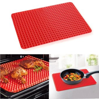 Harga CocolMax Pyramid Pan Non Stick Fat Reducing Silicone Cooking Mat Oven Baking Tray Sheets - intl