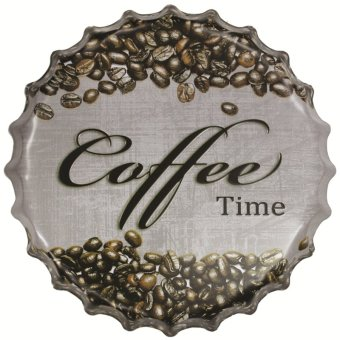 BolehDeals 40cm Vintage Metal Tin Sign Bottle Cap Plaque Wall Art Cafe Bar Poster #33(Export)