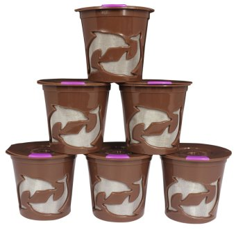 Harga Keurig K Cups Keurig 2.0 and 1.0 Refillable Reusable K Cup Coffee Filter 6pcs (Chocolate)