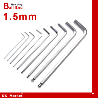 Harga 1.5mm , 20cps , Extra Long Hex Key, m1.5 Ball End wrench , alloy steel Allen key hand tools , China fasteners Manufactuer