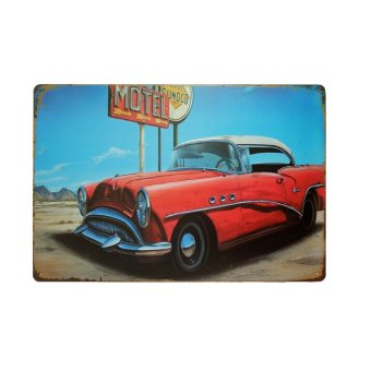 BolehDeals Vintage Metal Tin Sign Plaque Wall Art Poster Sheet Cafe Bar Pub Car 23 (EXPORT)