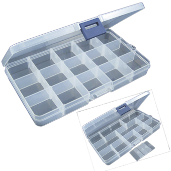 Harga Compartments Jewellery Bead Storage Box Case Organiser 15 Grid
