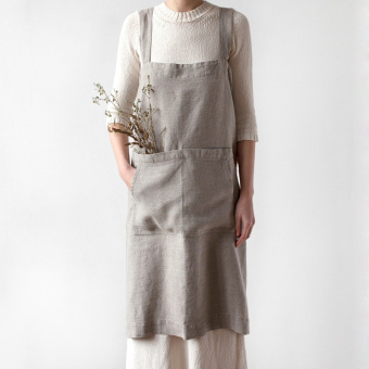 Harga The Black Unicorn natural colors ramie apron