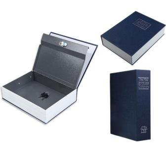 Dictionary Style Blue Security Cash Money Safe Storage Box Case Size S