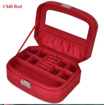 Harga Tresor Trendy Plush Jewellery box (Chill Red)