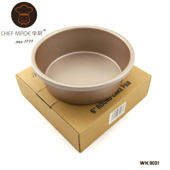 Harga Champagne gold 6 inch chefmade school kitchen baking mold nonstick round solid bottom cake mold cheese mold