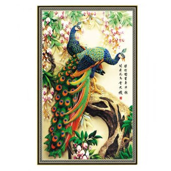 "Harga ""MEGA 5D Diamond Embroidery Painting DIY Peacock Cross Stitch Craft"