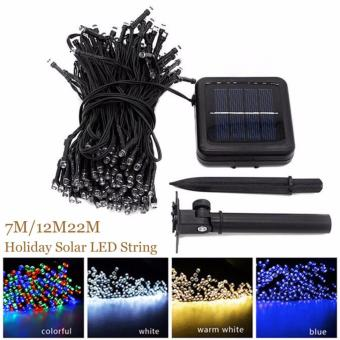 Harga 22M200LED Solar Lamp Fairy String Lights Solar Power Outdoor Lighting 8 Modes Waterproof For Garden Light LED Light String(blue) - intl