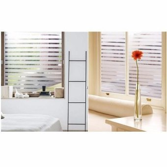 Static Removable Privacy Window Film-Stripe