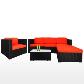 Harga Arena Living Summer Outdoor Modular Sofa Set II Orange Cushions