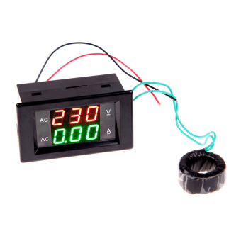 Harga LCD Digital Voltmeter Ammeter AMP Current Voltage Meter Panel (Black)