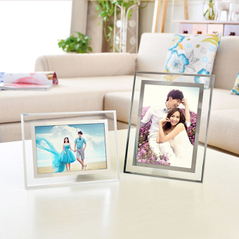 Harga Muge crystal glass swing sets photo frame certificate frame document 5 inch 6 inch 7 inch 8 inch 10 INCH A4 inch business license frame