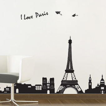 Harga Baseboard self-adhesive Paris tower sticker background wall stickers
