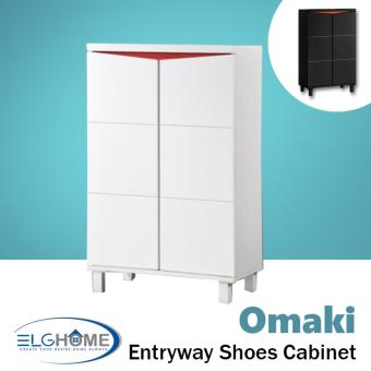 Harga OMAKI Entryway Shoe Storage Cabinet Short (White) (FREE Install & Delivery)