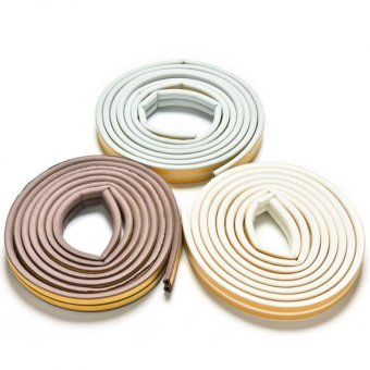 Harga 5M E/D/I-type Foam Draught Self Adhesive Window Door Excluder Rubber Seal Strip White D - intl