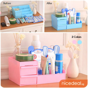 Harga Desk and Make Up Organiser Rack (Random color)