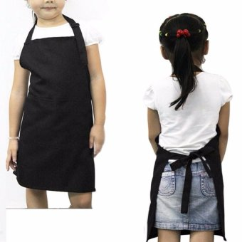 Harga Kitchen Multifunctional Kid's Apron(Black) - Intl