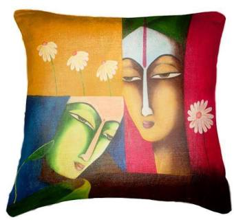 Harga IMG Cushion Cover BUY 1 GET 1 FREE painting face