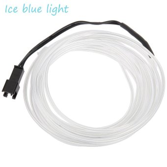 Harga 3M 3V Flexible LED Neon Light Glow EL Wire Strip