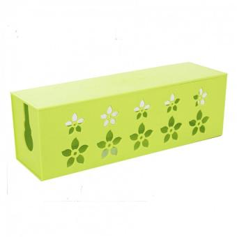 Harga Hardcover large cable box power cord storage box case (green)