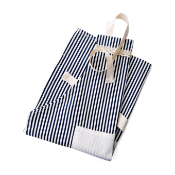 Harga Home home Linen apron fashion simple anti-oil cooking apron Korean-style kitchen adult sleeveless home gowns