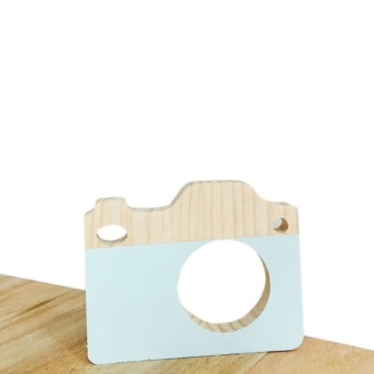 Harga blackhorse Wooden toy camera furnishing articles 13 * 15.5 * 1.7 cm Green - intl