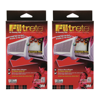 Harga (Bundle of 2) 3M Filtrete 9808-2 Aircon Filter 15 x 24 inch Red
