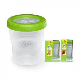 Harga Ball Plastic Pint 16oz Plastic BPA-free Freezer Jar with Snap-on Lids