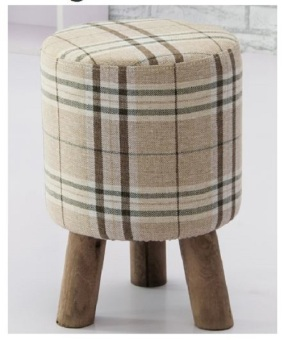 Designer Stool (Beige Checker A)