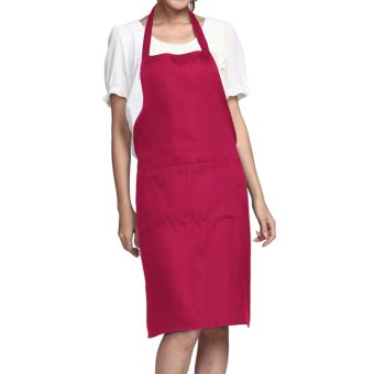 Harga Kitchen Apron Chefs Butchers Cooking (Pink)