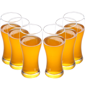 Harga Low luxury in the waist large beer glass juice cup beer mug drink cup six only suit creative glass