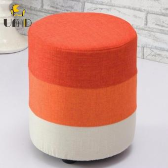 UMD Designer Fabric Stool Ottoman (Orange)