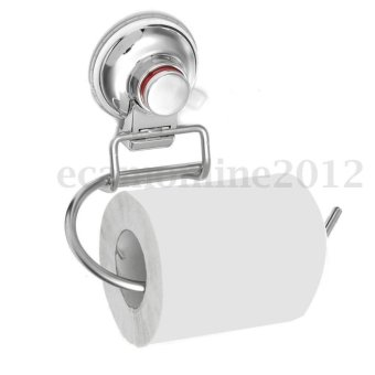 Harga BolehDeals Stainless Bathroom Toilet Paper Roll Tissue Holder Hook Rack Suction Cup(Export)