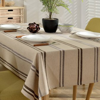 American modern cafe restaurant simple striped cotton cloth tablecloth dining table cloth rectangle coffee table cloth tablecloth