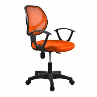 Harga Basic Office Chair Rein S02 Orange,delivery-weekdays before 6pm