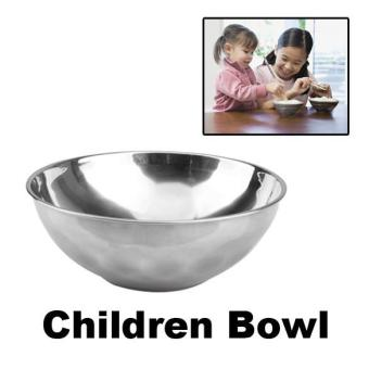 Harga Anti-Rust Stainless Steel Smooth Rolled Edge Bowl - intl