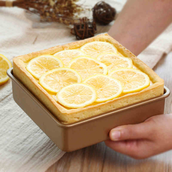 Harga Golden square nonstick cake mold cheese mousse mold 6 inch 7 inch 8 inch dead end