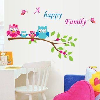 Harga Baby nursery wall stickers children's room bedroom cartoon wall stickers wallpaper removable adhesive sticker animal