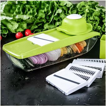 Mandoline Slicer Manual Vegetable Cutter with 5 Blades Potato Carrot Grater for Vegetable Onion Slicer Kitchen Accessories - intl
