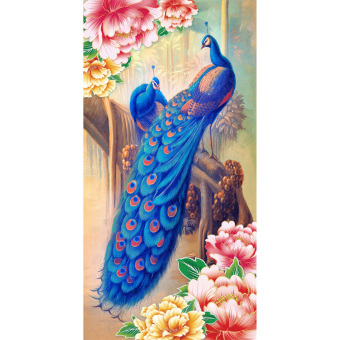 Harga 5D Blue Peacock Diamond Sticker Cross Stitch Painting