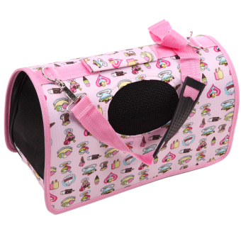 Harga Pet Dog Carrier House Cage(Pink) (EXPORT)