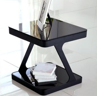 Harga Modern Stylish Side Table (Black)