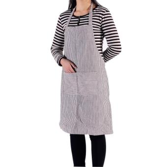 Harga New Striped Skirt Waiter Kitchen Chef Cooking Apron Coffee - intl