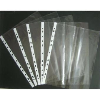 Harga 11 Holes Sheet Protector Clear 100 Pcs for documents, A4.