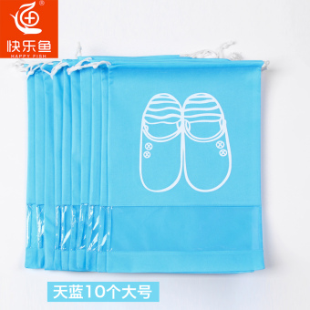 Harga Happy fish travel shoe pouch shoe storage bag clothing shoes storage bag shoe bag beam port dustproof shoe covers