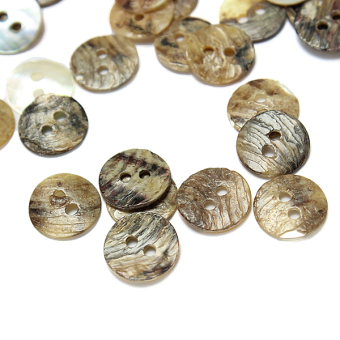 Harga Lot of 100pc Mother of Pearl Round Shell Buttons Sewing 2 Holes 8 Size 12.5mm - Intl