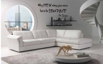 Harga Dr. Seuss Why Fit in When Your Are Born To Stand Out Quote Wall Decal 25cm*57cm