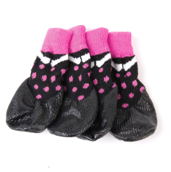 Waterproof Dog Puppy Cat Pet Shoes Slippers Non-Slip Socks #1